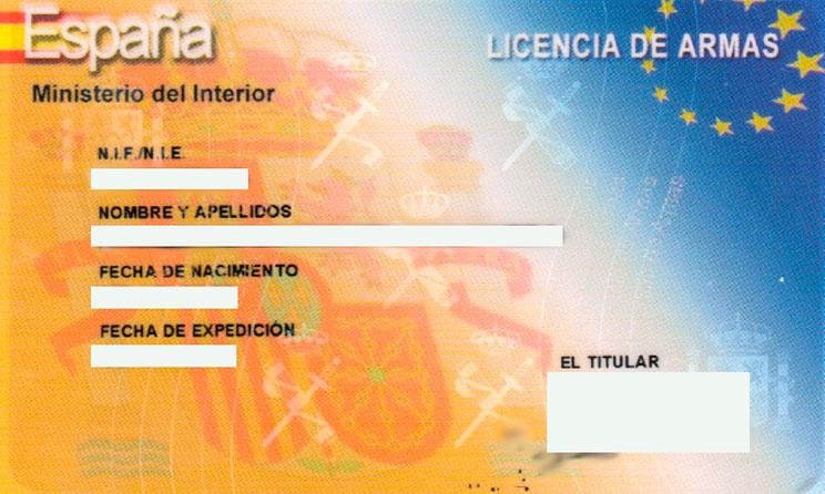 Certificado médico para licencia de armas